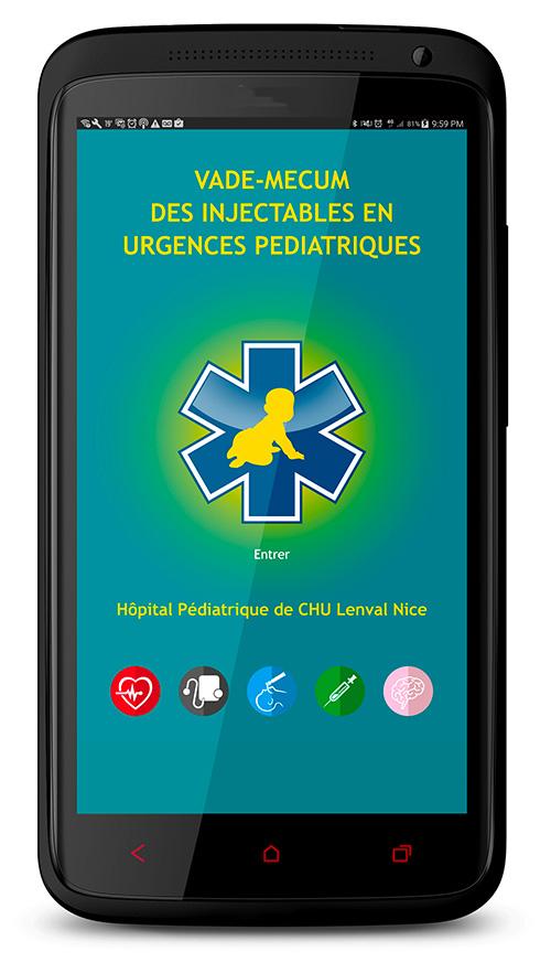 App Android - Vade-mecum des injectables en urgences pédiatriques