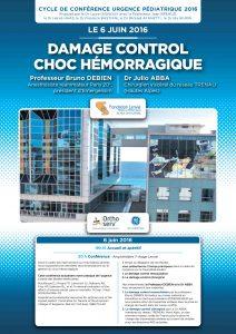 Conférence Damage Control - Choc hémorragique