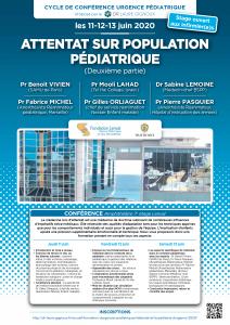 Attentat population pédiatrique - Affiche 2020